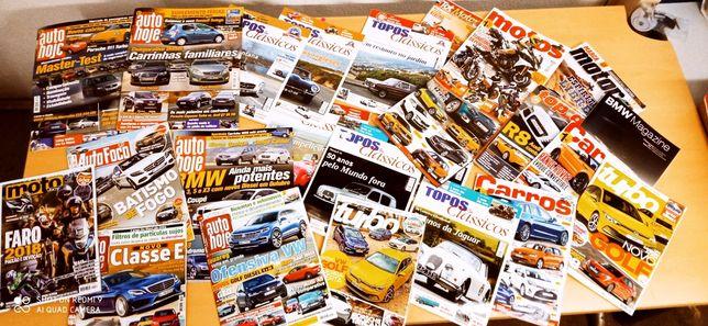 Lote revistas sobre carros e motas