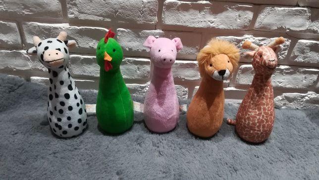 Zabawki misie zwierzątka kręgle grzechotki dla dzieci lew świnka