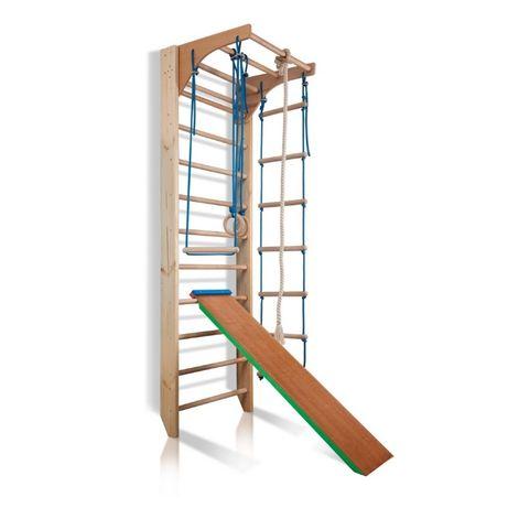 Drabinka gimnastyczna drewniana ze zjeżdżalnią TOMAS 220cm