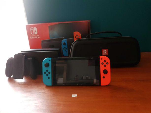 Nintendo Switch - Stan Idealny [ Na Gwarancji] + 13 Gier + Akcesoria