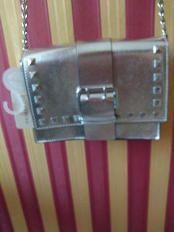 Nowa srebrna torebka wzór Valentino