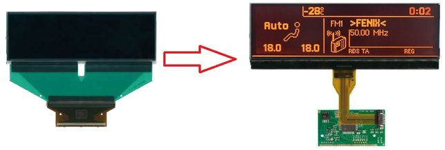 Wyświetlacz panel klimatyzacji PEUGEOT 407 807 C5 307 C8