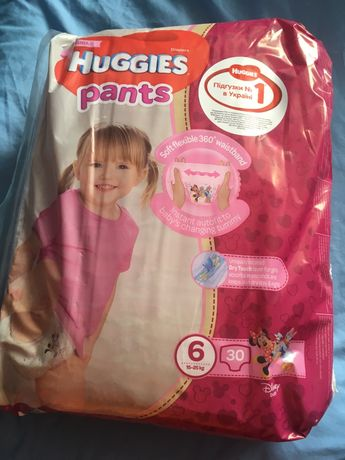 Huggies хаггис памперс трусики р. 6, 30 шт, для девочек