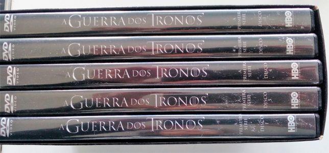 Guerra dos Tronos DVDs 1.ª série - usado
