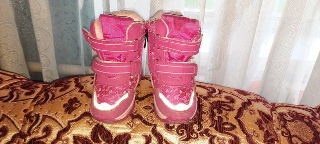 Рожеві зимові ботіночки