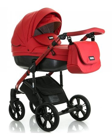 Коляска детская Mioobaby Zoom Black Edition Red