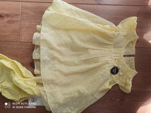 Piękny komplet dla dziewczynki sukienka body