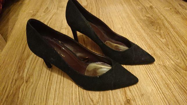 Buty na szpilce półbuty czarne Zara roz 37