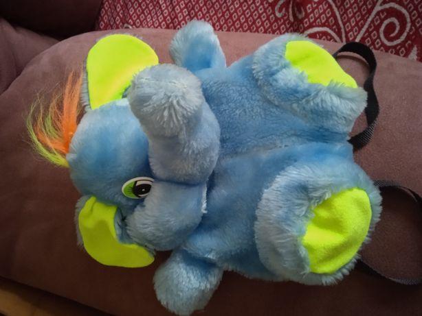 Рюкзачок Слоник голубой