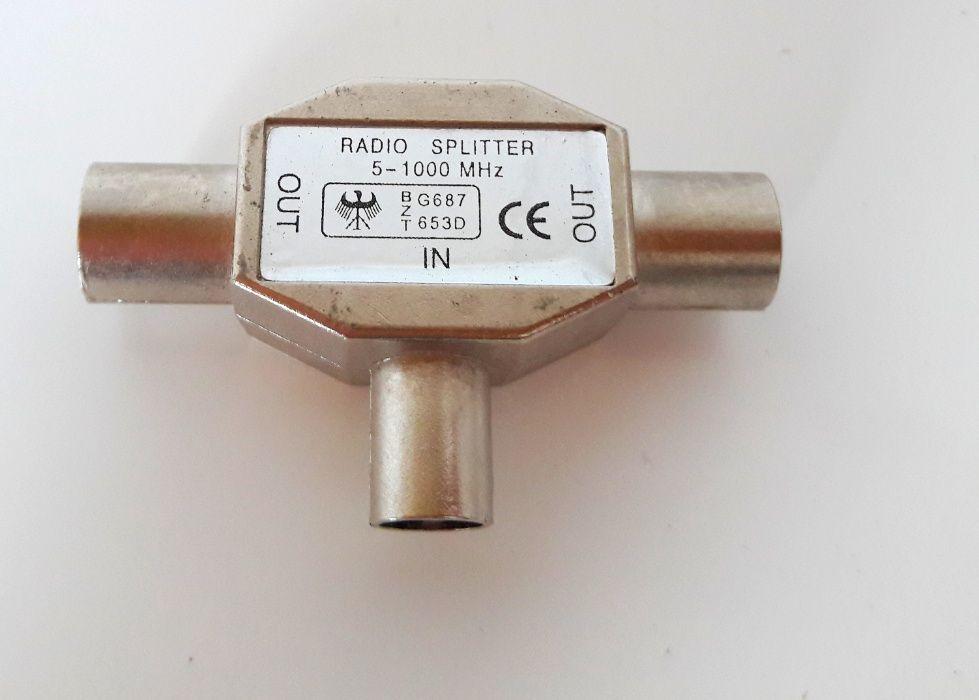 Radio splitter rozdzielacz transformator rozgałęźnik antenowy tv Swarzędz - image 1