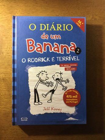 """Livro """"O Diário de um Banana 2"""" Jeff Kinney"""