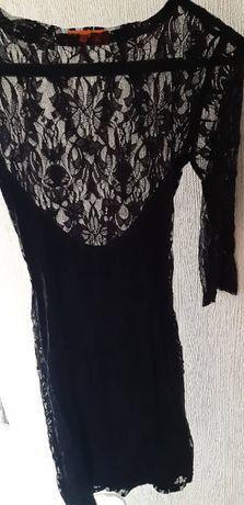 Новое ажурное сексуальное черное маленькое мини платье