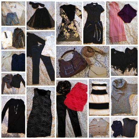 Paka ubrań S/M 36/38 29 rzeczy + dodatki (torebki)