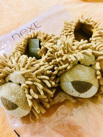 Тапочки Next львы, домашние тапочки