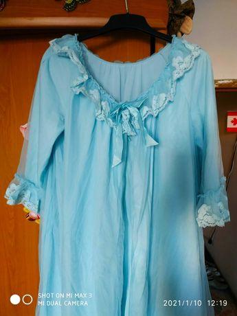 Пеньюар, халат, ночная рубашка, ночнушка, комплект для сна