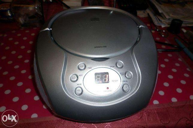 Radio Boombox, Odtwarzacz CD Srebrny, Powystawowy