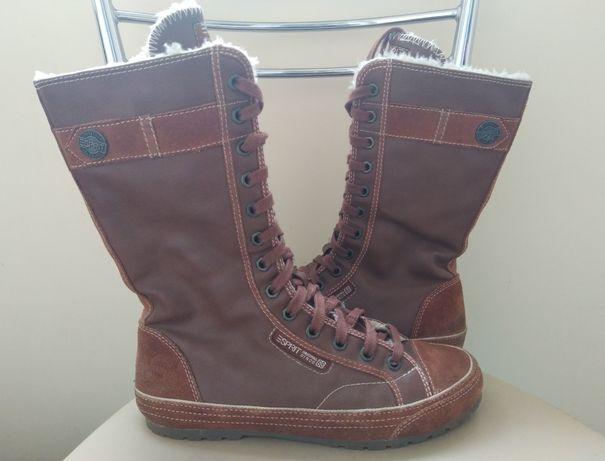 Зимние кеды ботинки кроссовки ESPRIT adidas nike HM 37 р., 23 см