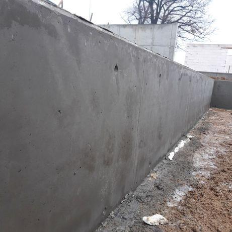 Ogrodzenia betonowe, mury oporowe, siatka, panel, kształtki modułowe.