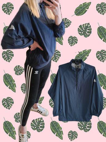 bluza kurtka cienka wiatrówka XS S Adidas granatowa na wiosnę