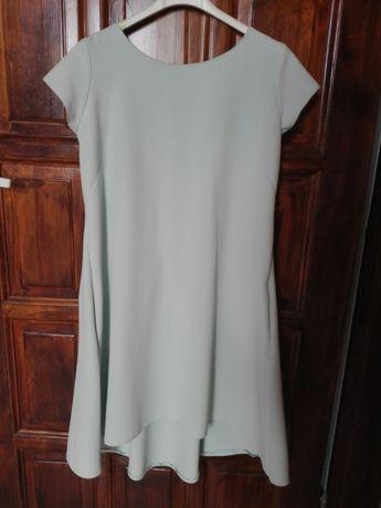 Miętowa sukienka r. M ciążowa