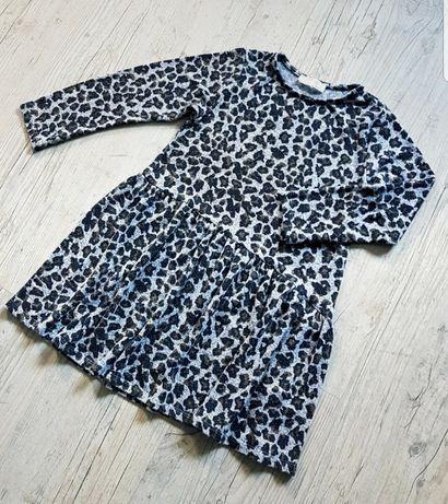 Sukienka dla dziewczynki panterka Zara 128