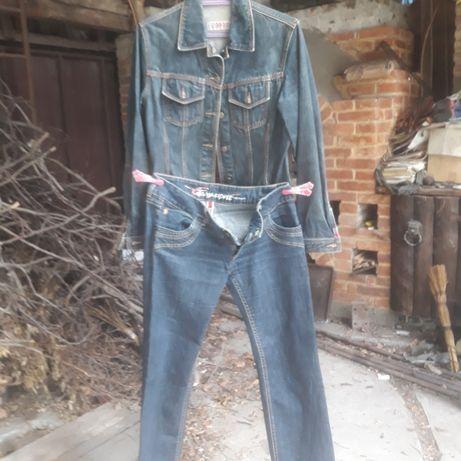 Джинсовые куртка и джинсы esprit