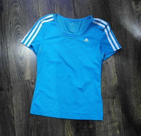 Adidas bluzka sportowa damska niebieska 36