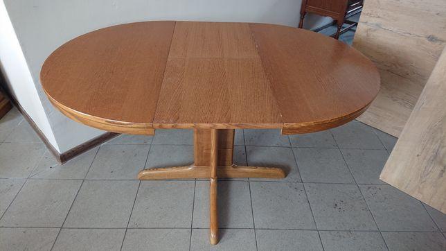 Stół okrągły rozkladany dębowy