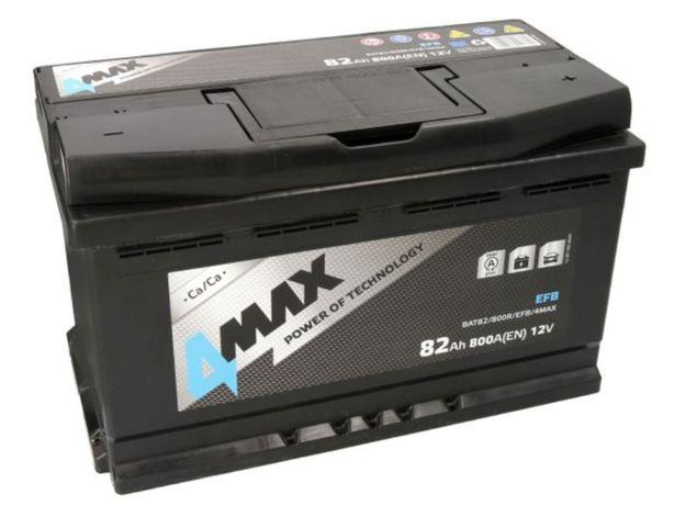Akumulator 4Max EFB Start-Stop BAT82 12V 82Ah 800A P+ Kraków