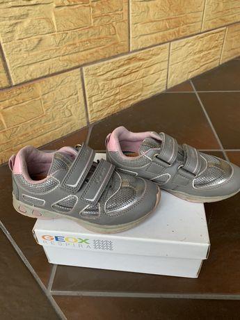 Buty adidasy Geox rozmiar 27 dla dziewczynki szare jak nowe