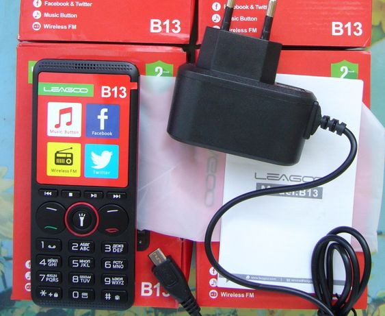 Leagoo B13.Кнопочный телефон.Рус.клавиатура,2 SIM,FM-радио,фонарик