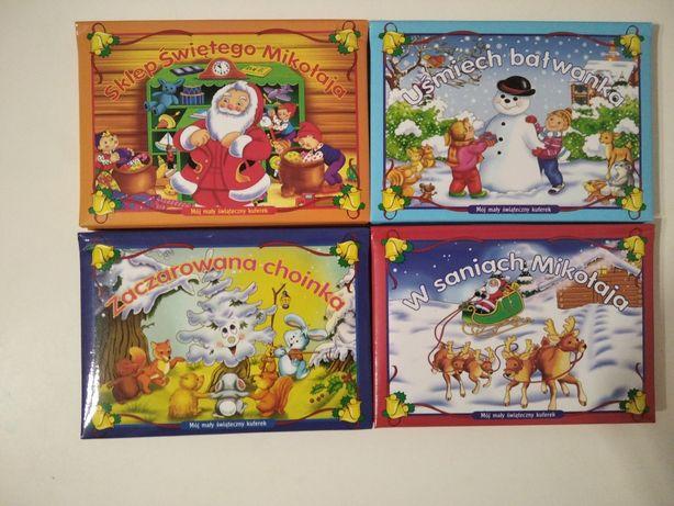 Zestaw książeczek w kuferku o świętach na boże Narodzenie