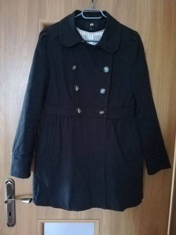 Elegancki, czarny płaszczyk H&M