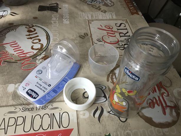 Бутылочка стеклянная Chicco