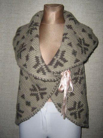 Sweter ciepły kamizelka wełna R.38-40 okazja