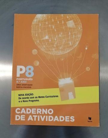 P8 - Português - 8º ano - Caderno de atividadesESCOLAR