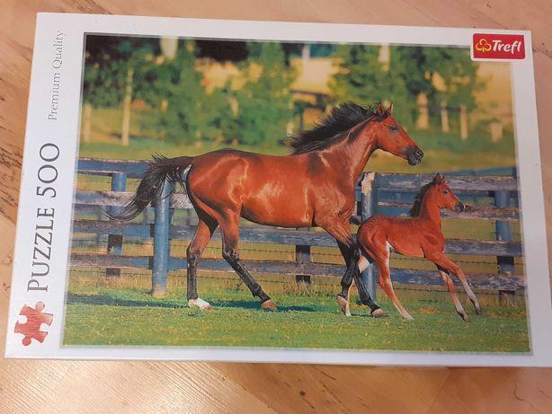 Puzzle Trefl-konie 500