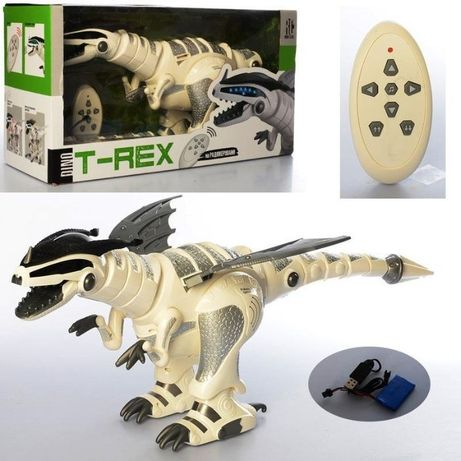 МЕГА ХИТ! Интерактивный Робот Динозавр T-Rex. Звук Свет Движения 5476