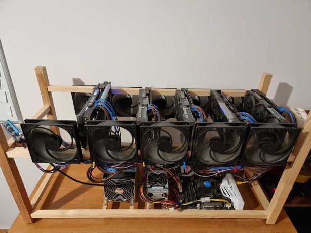 Koparka kryptowalut 5 x RTX 3070 ETH ETC RVN 300+ MH/s