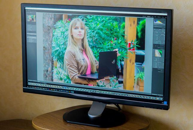 Монитор Philips 4k Ultra HD/Состояние идеальное,полный заводской компл