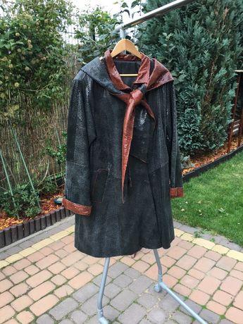 Płaszczyk płaszcz skórzany