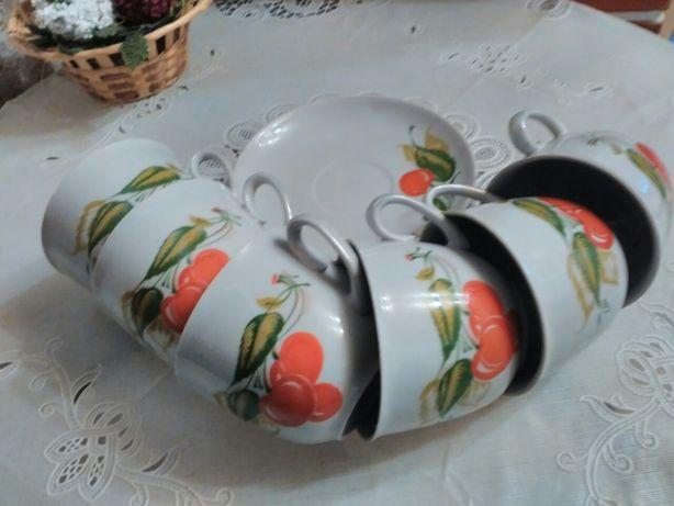 Симпатичный наборчик чашек с блюдцами СССР
