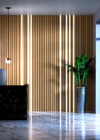 Декоративная гипсовая 3д панель Баркод (линии) лэд