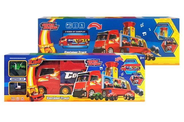 """Автовоз-Парковка """"Вспыш и Чудо-машинки """" + 2 машинки, свет, звук."""
