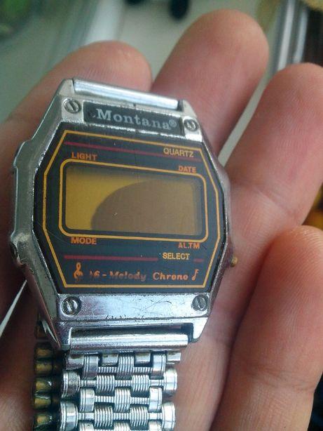 Часы Монтана из 90-х, начинка и браслет, нерабочие. Quartz