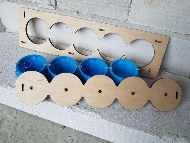 Шаблон, Кондуктор для сверления подрозетников, 72 диаметр 5 отверстий.