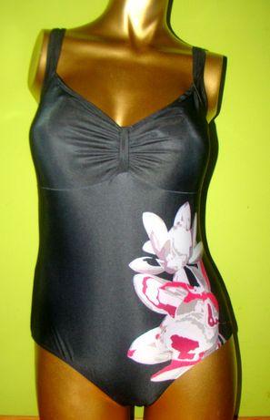 Strój kąpielowy 48E jednoczęściowy kostium czarny elegancki