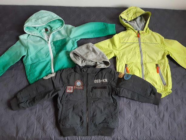 3 kurtki wiosenno-jesienne, stan dobry, chłopiec, rozmiar 110!