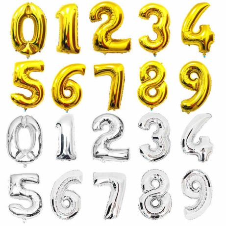 Balony cyferki, balon cyfra z helem, foliowa cyferka z helem, duża!