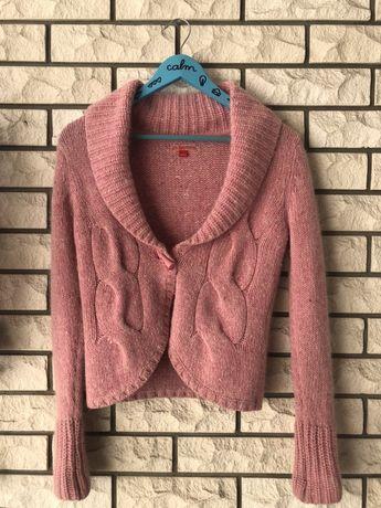 Różowy sweter kardigan vintage Rozm. S Esprit